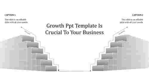 Growth PPT template - Steps Design