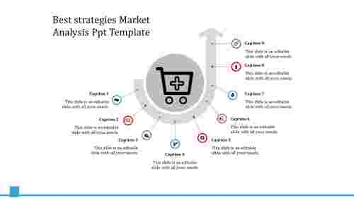 A nine noded market analysis PPT template