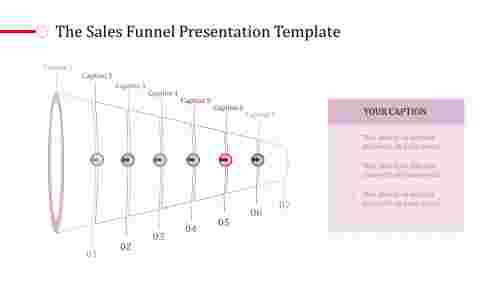 Infographic funnel presentation template