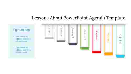 A seven noded powerpoint agenda template