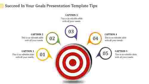 Goals presentation template - 5 Parts