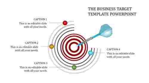 Targettemplatepowerpoint-ArcShape