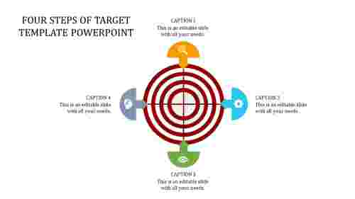 Target template powerpoint - 4 way direction