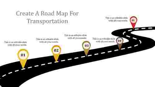 RoadMapSlideTemplateDesign