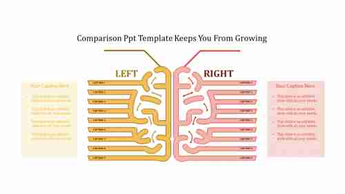 A eight noded comparison PPT template