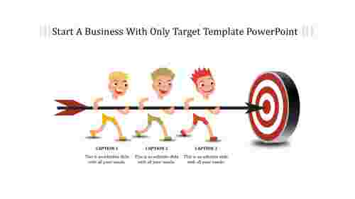 Target template powerpoint - Illustration