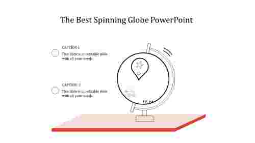 A two noded spinning globe powerpoint
