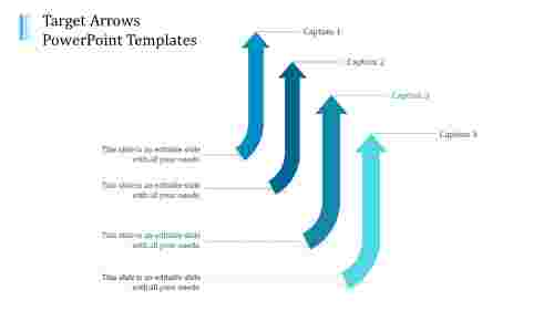 A four noded arrows powerpoint templates