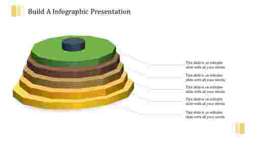 3D infographic presentation with four levels