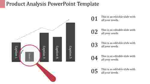 A five noded analysis powerpoint template