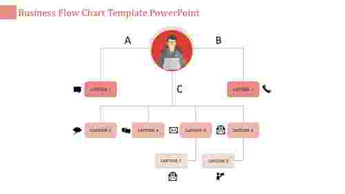 flow chart template powerpoint-business flow chart template powerpoint-red