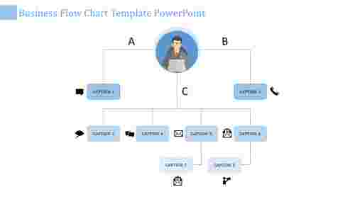 flow chart template powerpoint-business flow chart template powerpoint-blue