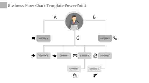 flow chart template powerpoint-business flow chart template powerpoint-gray