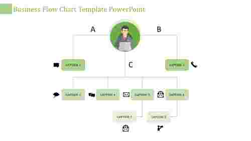 flow chart template powerpoint-business flow chart template powerpoint-green