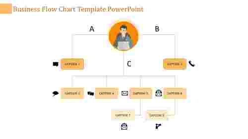 flow chart template powerpoint-business flow chart template powerpoint-orange