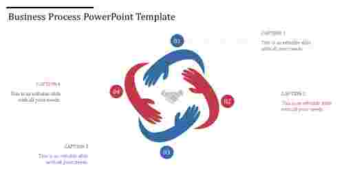 A four noded process powerpoint template