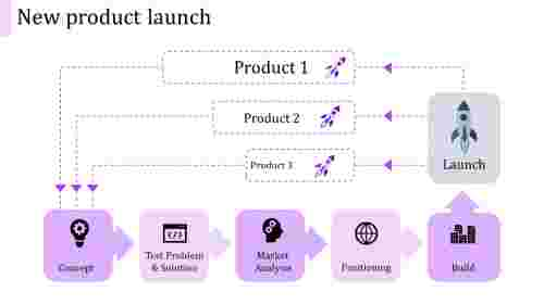 new product launch ppt template-new product launch-purple