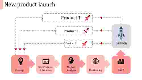 new product launch ppt template-new product launch-red