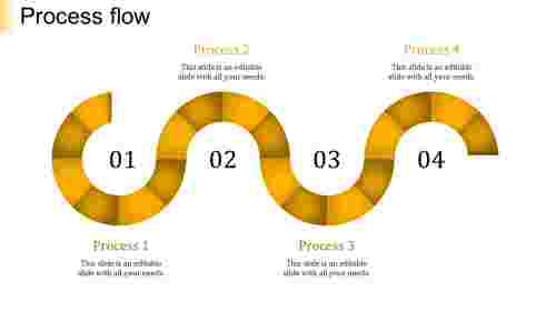 process flow ppt template-process flow-yellow-4