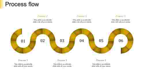 process flow ppt template-process flow-yellow-6