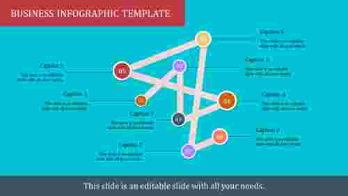 A eight noded infographic template ppt