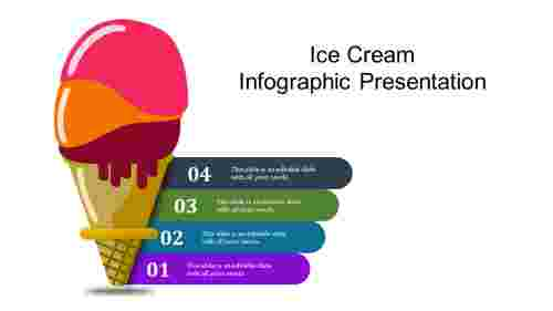 A four noded infographic presentation