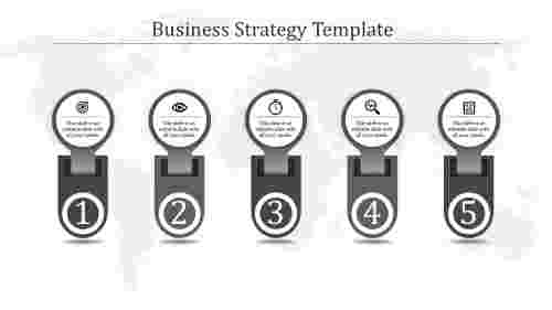 A five noded business strategy template