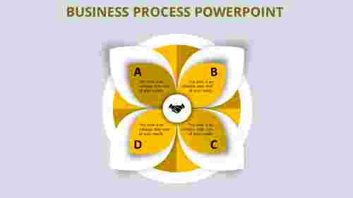 Petals shape business process powerpoint
