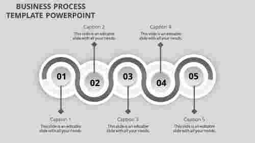 business process template powerpoint-business process template powerpoint-gray-5