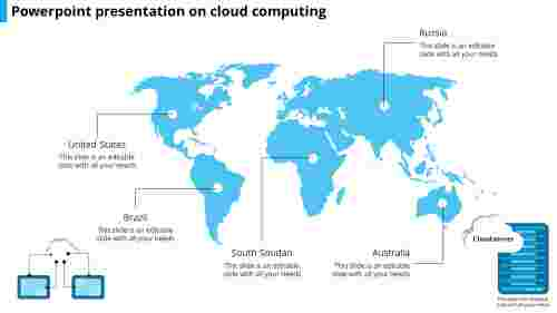 A five noded powerpoint presentation on cloud computing