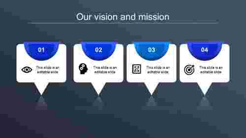 vision and mission ppt-our vision and mission-blue