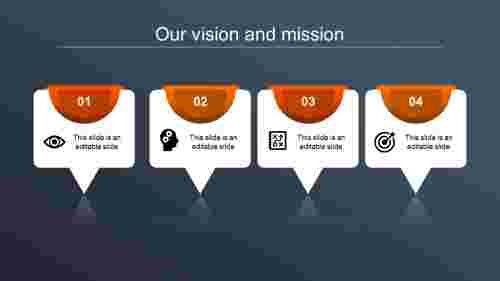 vision and mission ppt-our vision and mission-orange