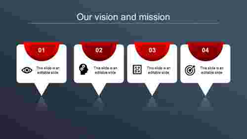 vision and mission ppt-our vision and mission-red