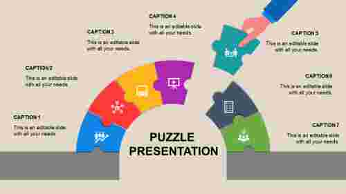 A seven noded puzzle presentation template
