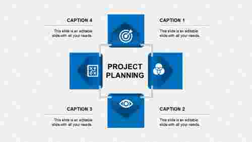 project planning ppt presentation-project planning-blue