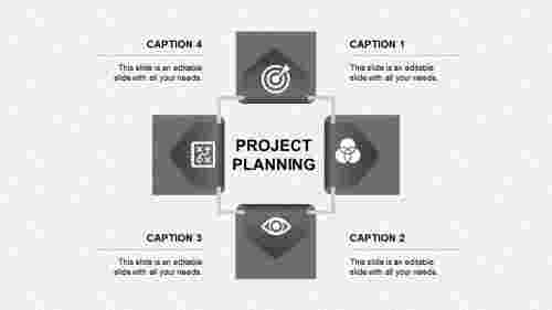 project planning ppt presentation-project planning-gray