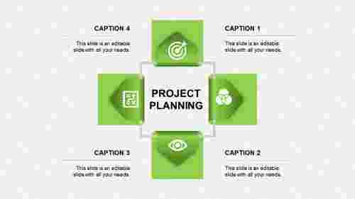 project planning ppt presentation-project planning-green
