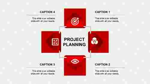 project planning ppt presentation-project planning-red
