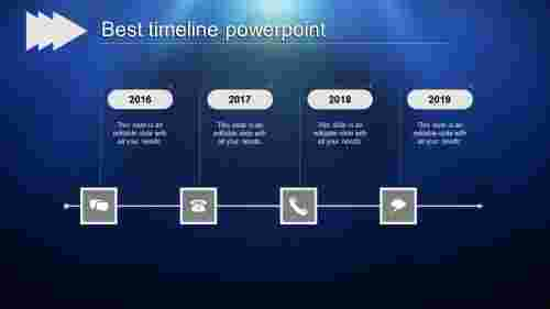 Vertical best timeline powerpoint