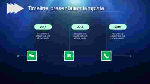Best timeline powerpoint - rounded rectangle shape