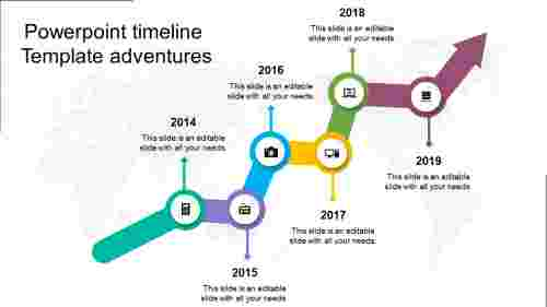 Powerpoint Timeline Template -Growth model