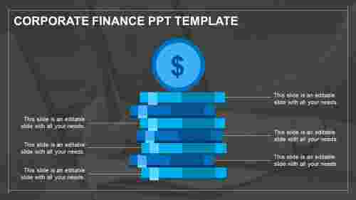 finance ppt template-blue