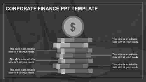 finance ppt template-gray