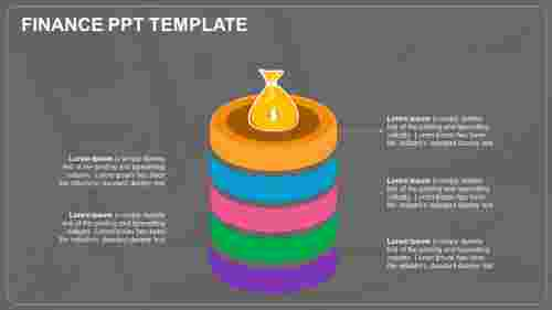 A six noded finance ppt template