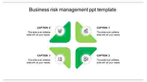 risk management ppt template-green