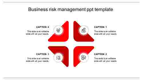 risk management ppt template-red