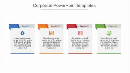A five noded Corporate PowerPoint Templates