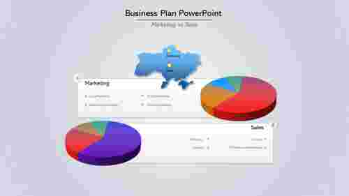 A two noded Business Plan PowerPoint