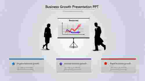 A three noded Business Growth Presentation PPT