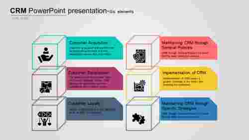 A six noded CRM PowerPoint presentation